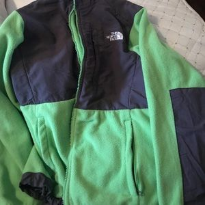 Green The North Face full zip jacket
